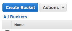 S3 All buckets screen