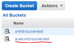 Second bucket created from code Amazon S3