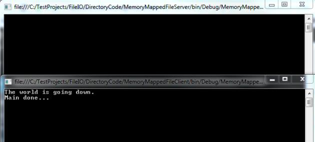 Memory mapped file interprocess communication