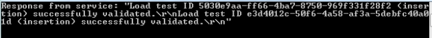 Successful load test insertion via tester console application