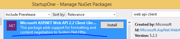 Web API client library in NuGet