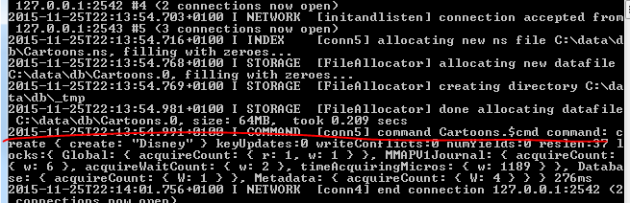 MongoDb server acknowledged connection from .NET driver