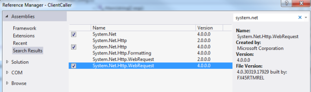 Necessary libraries to make http calls