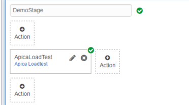 Apica load test action successfully added