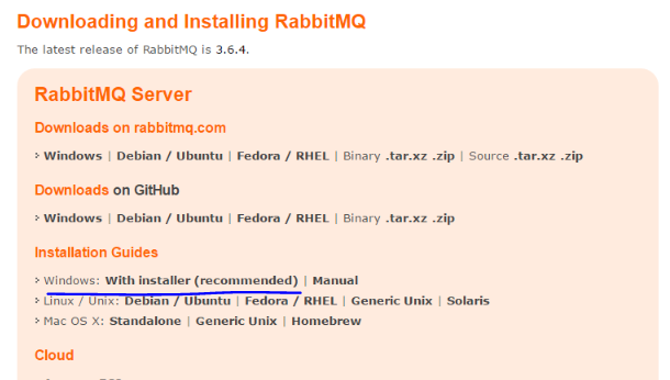 RabbitMq Windows installer link