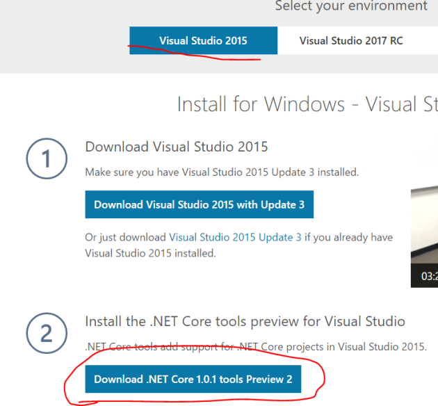 download-net-core-tools-for-visual-studio-2015