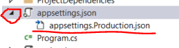 Environment specific settings file for ASP.NET Core project