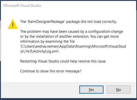 failed-to-load-xaml-designer-package-when-creating-net-core-project-in-visual-studio