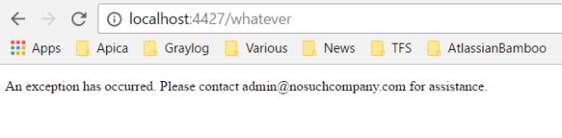 Show custom error page in ASP.NET Core application