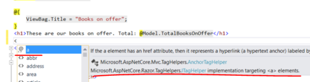 Checking if tag helper library is working in the view in .NET Core MVC project