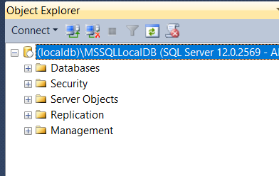 Accessing local db via MS SQL management studio in .NET Core MVC project