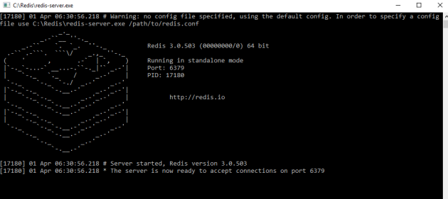 Redis server up and running on Windows