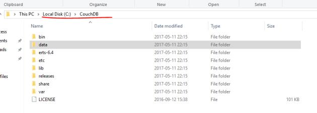 CouchDB installation root on Windows