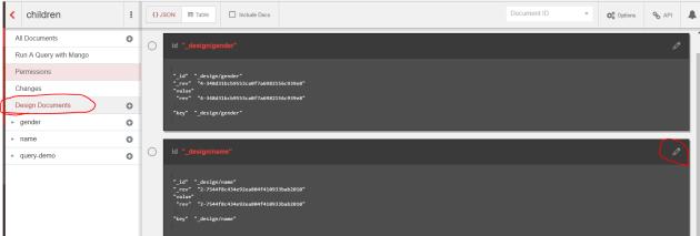 Update a design document in Fauxton CouchDB UI