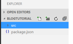 Add source folder to NPM webpack demo project Visual Studio Code